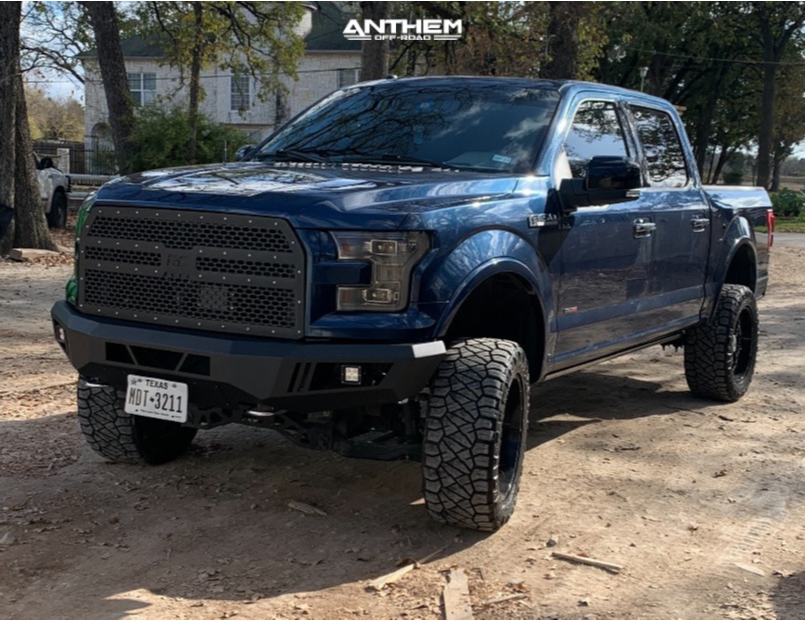 2 2016 F 150 Ford Rough Country Suspension Lift 4in Anthem Off Road Avenger Machined Black