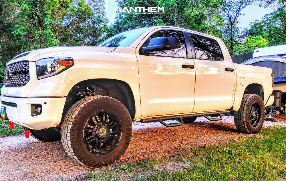 1 2018 Tundra Toyota Readylift Suspension Lift 4in Anthem Off Road Equalizer Matte Black