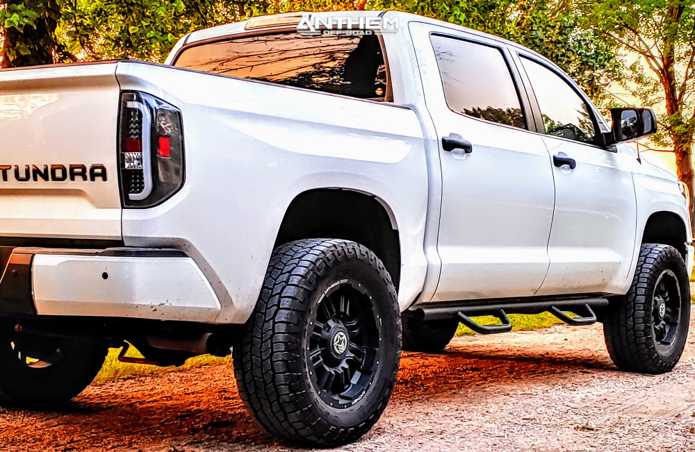 4 2018 Tundra Toyota Readylift Suspension Lift 4in Anthem Off Road Equalizer Matte Black
