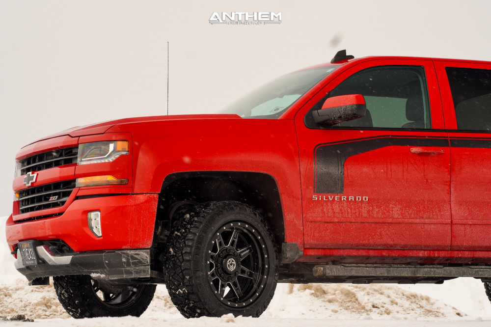 12 2016 Silverado 1500 Chevrolet Rough Country Leveling Kit Anthem Off Road Rogue Machined Black
