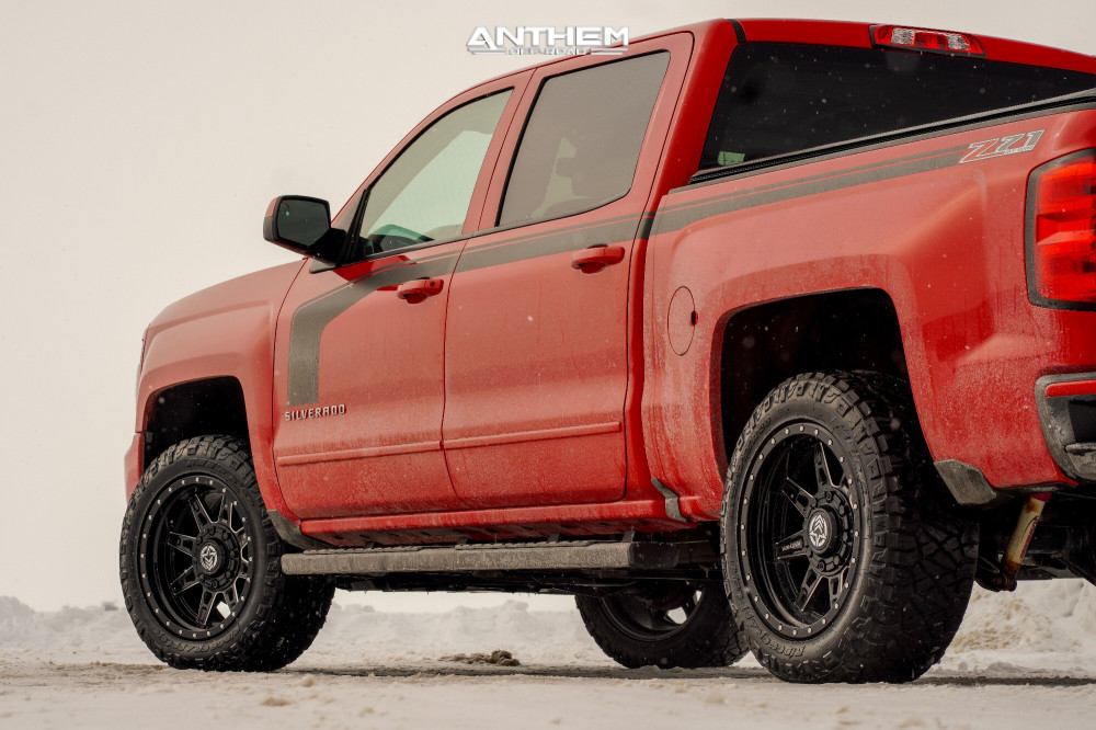 4 2016 Silverado 1500 Chevrolet Rough Country Leveling Kit Anthem Off Road Rogue Machined Black
