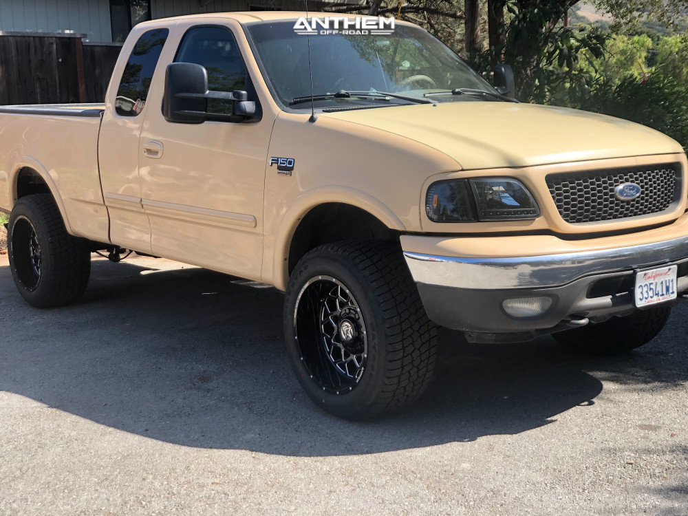 1 2003 F 150 Ford Rough Country Air Suspension Anthem Off Road Avenger Machined Black