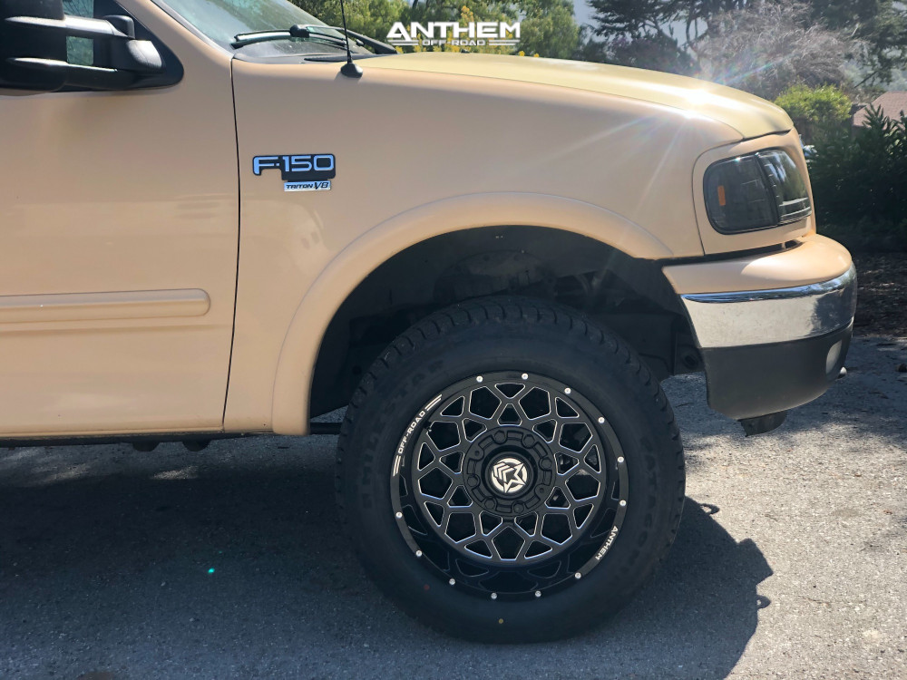 5 2003 F 150 Ford Rough Country Air Suspension Anthem Off Road Avenger Machined Black