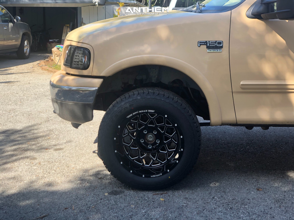 8 2003 F 150 Ford Rough Country Air Suspension Anthem Off Road Avenger Machined Black