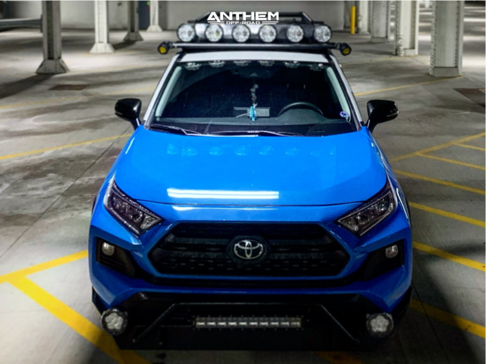 2 2019 Rav4 Toyota Rough Country Suspension Lift 35in Anthem Off Road Liberty Matte Black