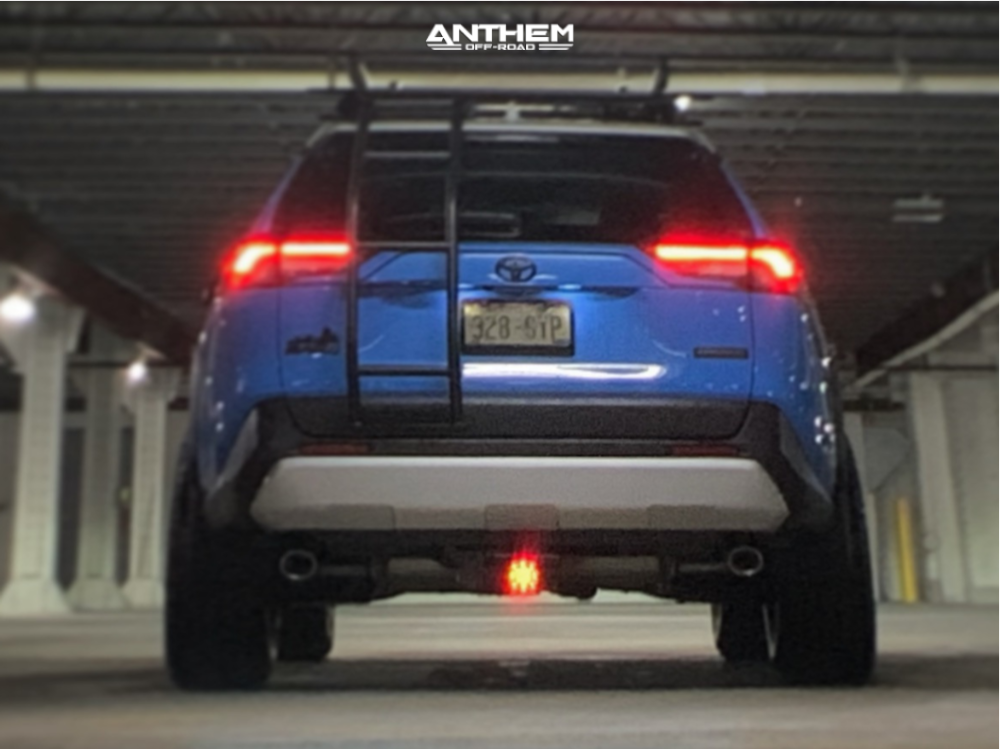3 2019 Rav4 Toyota Rough Country Suspension Lift 35in Anthem Off Road Liberty Matte Black