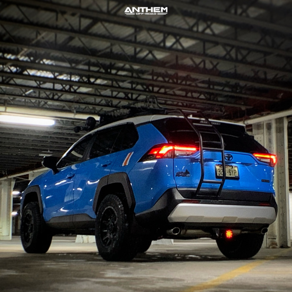 4 2019 Rav4 Toyota Rough Country Suspension Lift 35in Anthem Off Road Liberty Matte Black