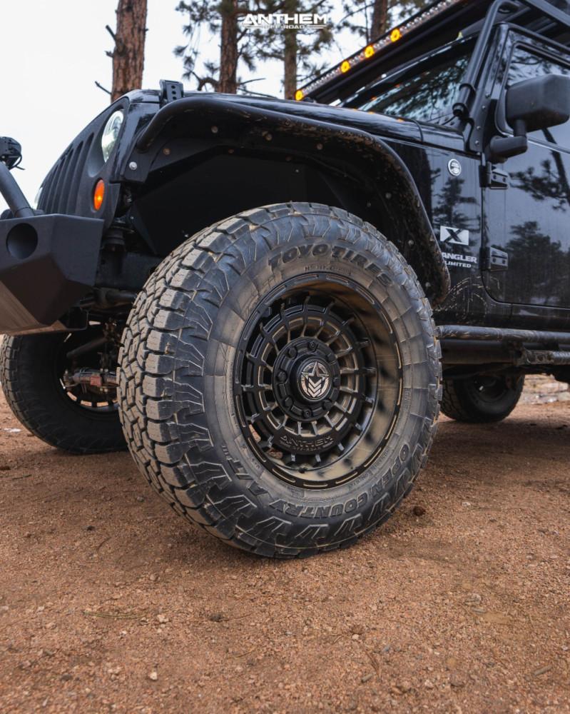 8 2009 Wrangler Jk Jeep Base Skyjacker Suspension Lift 4in Anthem Off Road Viper Matte Black