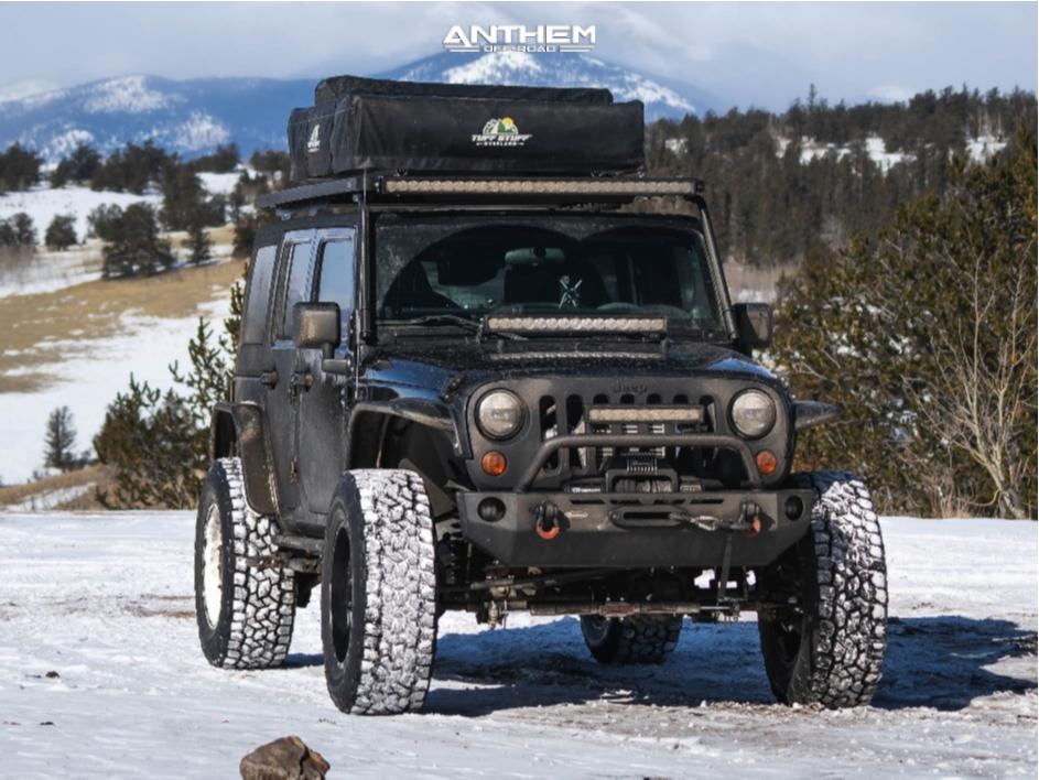 13 2009 Wrangler Jk Jeep Base Skyjacker Suspension Lift 4in Anthem Off Road Viper Matte Black