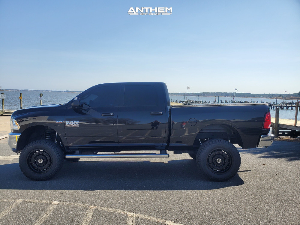 2 2018 Ram 2500 Dodge Rough Country Suspension Lift 5in Anthem Off Road Viper Black