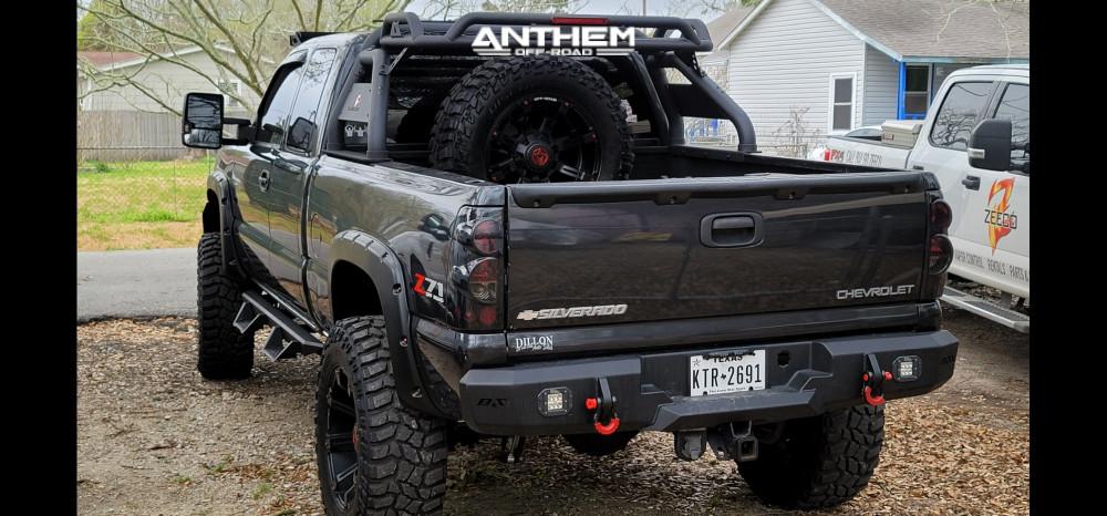 4 2005 Silverado 1500 Chevrolet Mcgaughys Suspension Lift 9in Anthem Off Road Defender Black