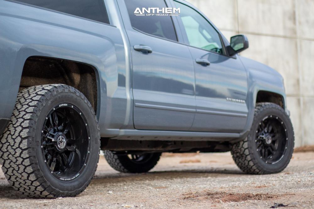 4 2015 Silverado 1500 Chevrolet Stock Air Suspension Anthem Off Road Equalizer Black