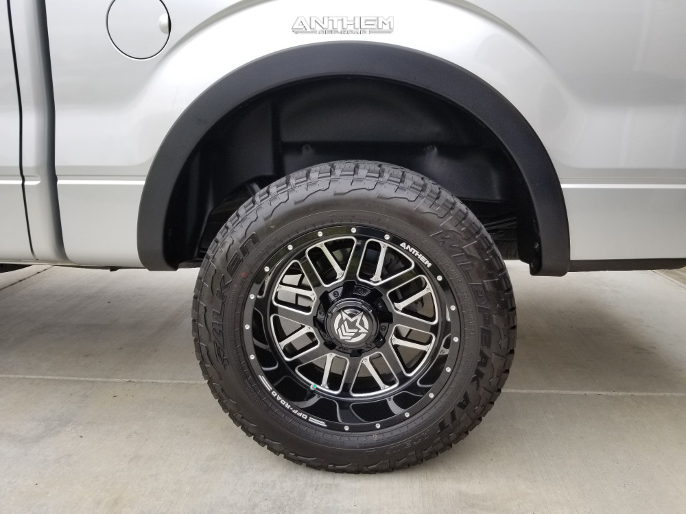 10 2013 F 150 Ford Supreme Suspension Lift 25in Anthem Off Road Gunner Machined Black
