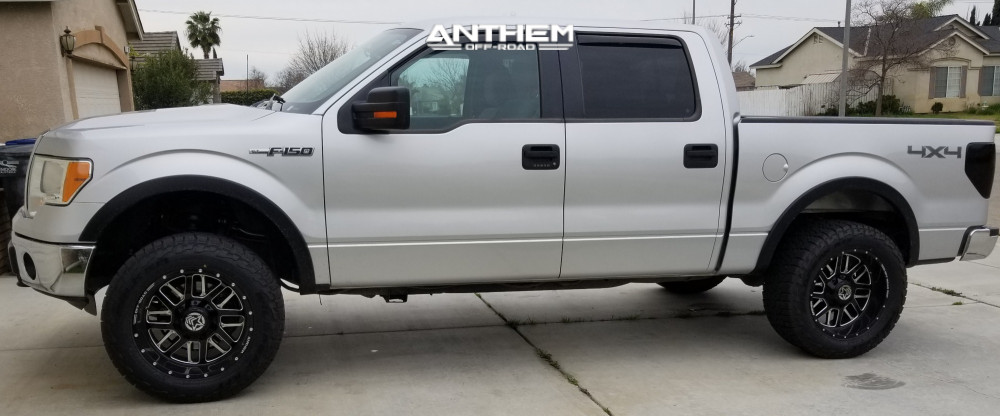 13 2013 F 150 Ford Supreme Suspension Lift 25in Anthem Off Road Gunner Machined Black