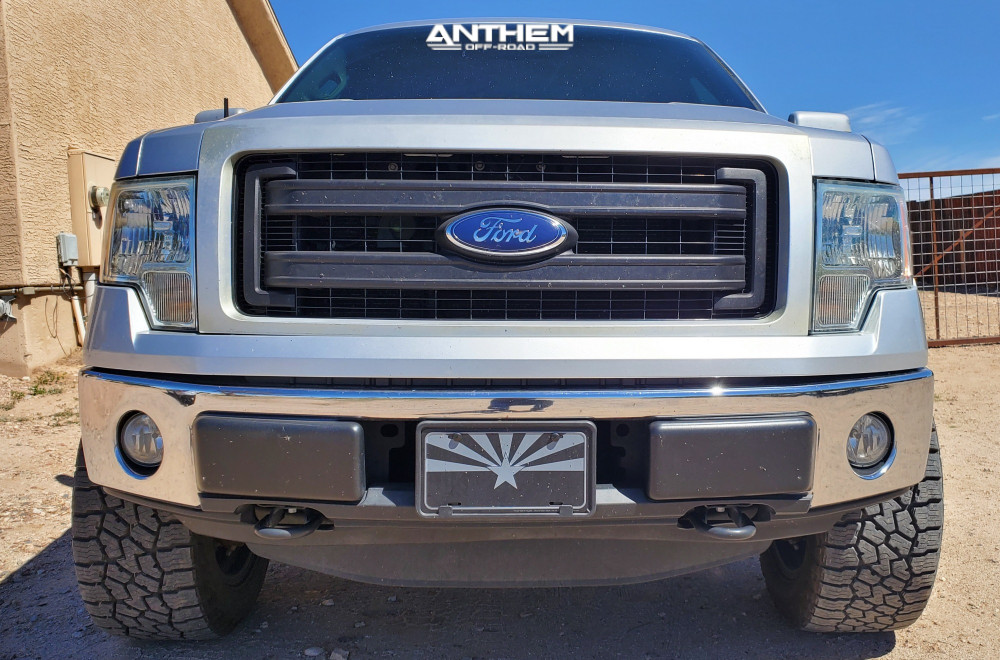 2 2013 F 150 Ford Supreme Suspension Lift 25in Anthem Off Road Gunner Machined Black
