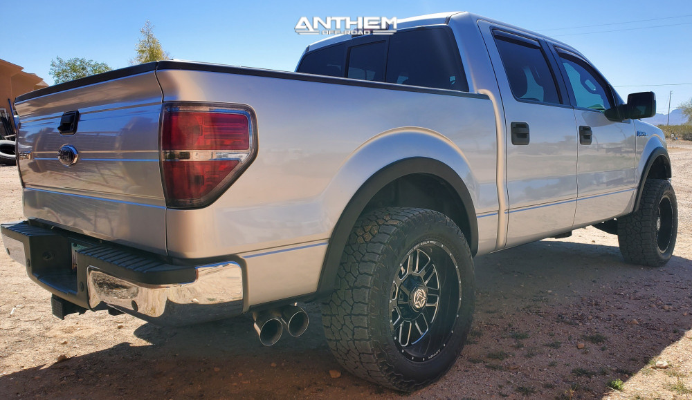 4 2013 F 150 Ford Supreme Suspension Lift 25in Anthem Off Road Gunner Machined Black
