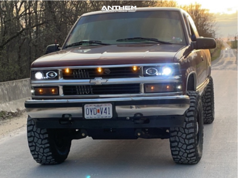 13 1998 K1500 Chevrolet Rough Country Suspension Lift 6in Anthem Off Road Equalizer Black