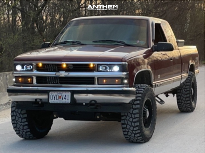 1 1998 K1500 Chevrolet Rough Country Suspension Lift 6in Anthem Off Road Equalizer Black