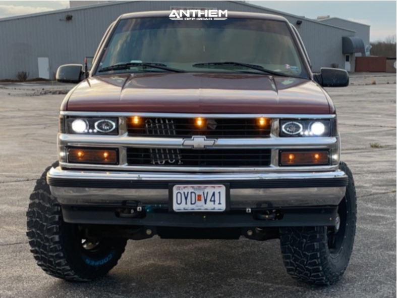 2 1998 K1500 Chevrolet Rough Country Suspension Lift 6in Anthem Off Road Equalizer Black