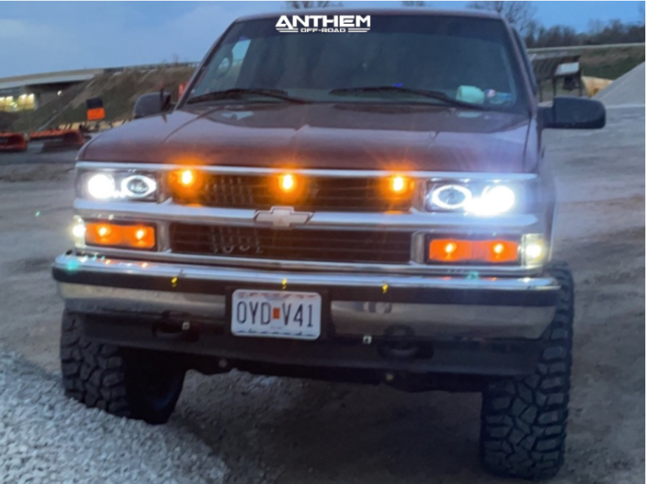 4 1998 K1500 Chevrolet Rough Country Suspension Lift 6in Anthem Off Road Equalizer Black