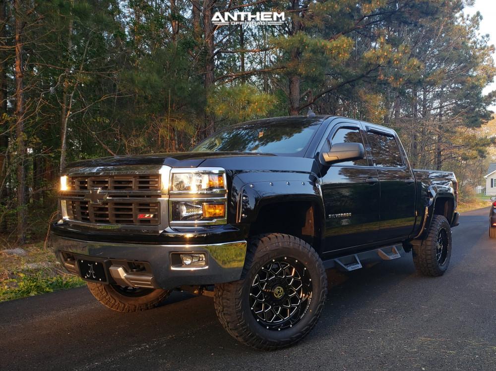 1 2014 Silverado 1500 Chevrolet Zone Suspension Lift 65in Anthem Off Road Avenger Black