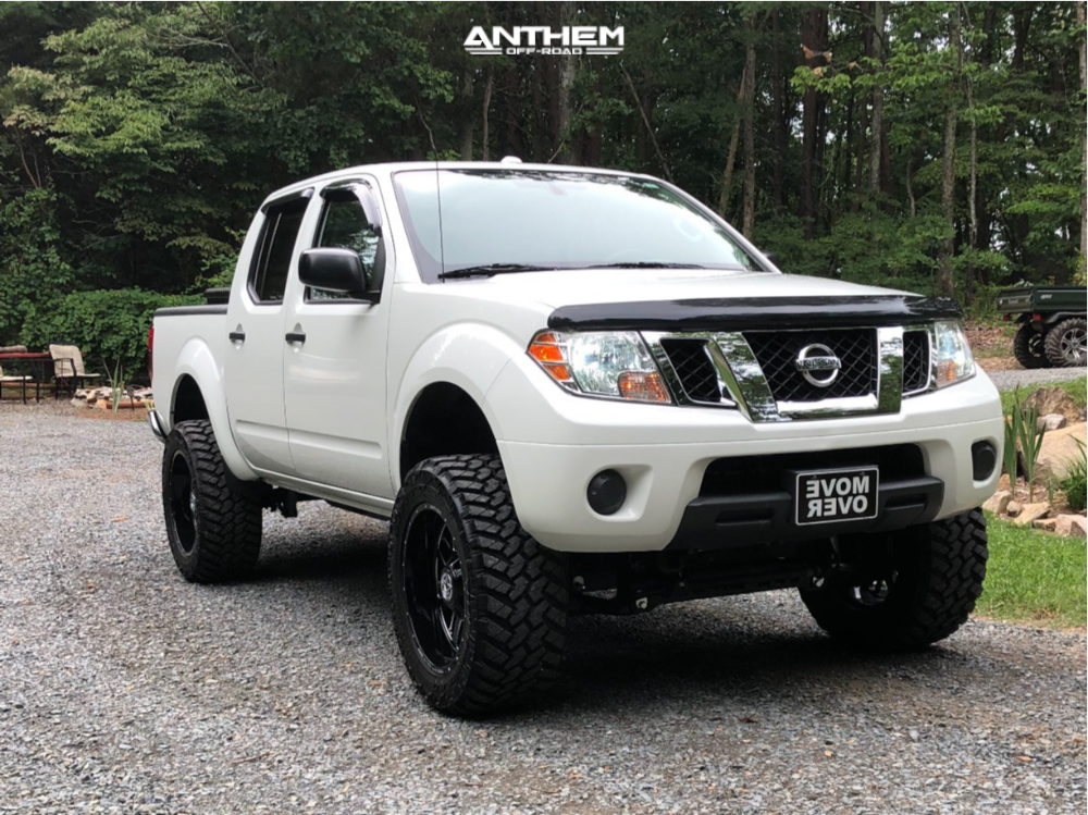 1 2014 Frontier Nissan Rough Country Suspension Lift 6in Anthem Gunner Machined Accents