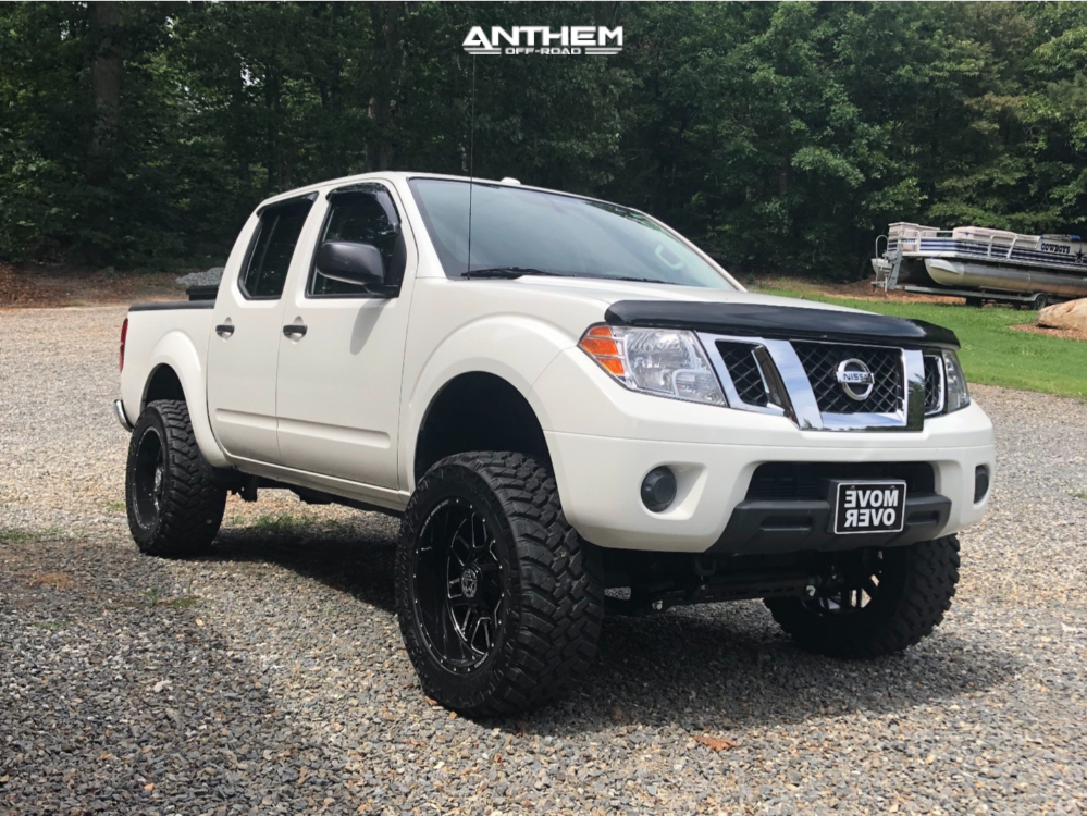 13 2014 Frontier Nissan Rough Country Suspension Lift 6in Anthem Gunner Machined Accents