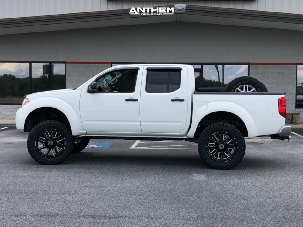 14 2014 Frontier Nissan Rough Country Suspension Lift 6in Anthem Gunner Machined Accents