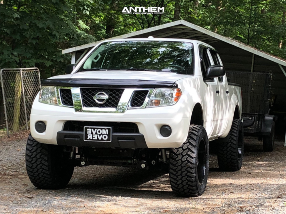 15 2014 Frontier Nissan Rough Country Suspension Lift 6in Anthem Gunner Machined Accents