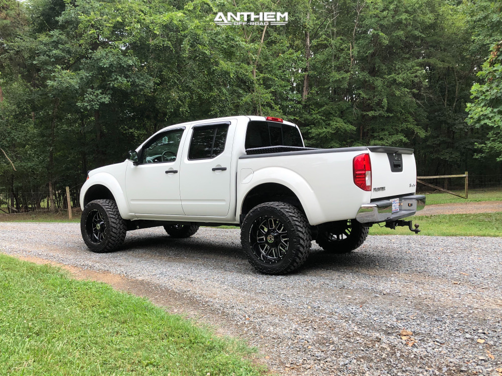 4 2014 Frontier Nissan Rough Country Suspension Lift 6in Anthem Gunner Machined Accents