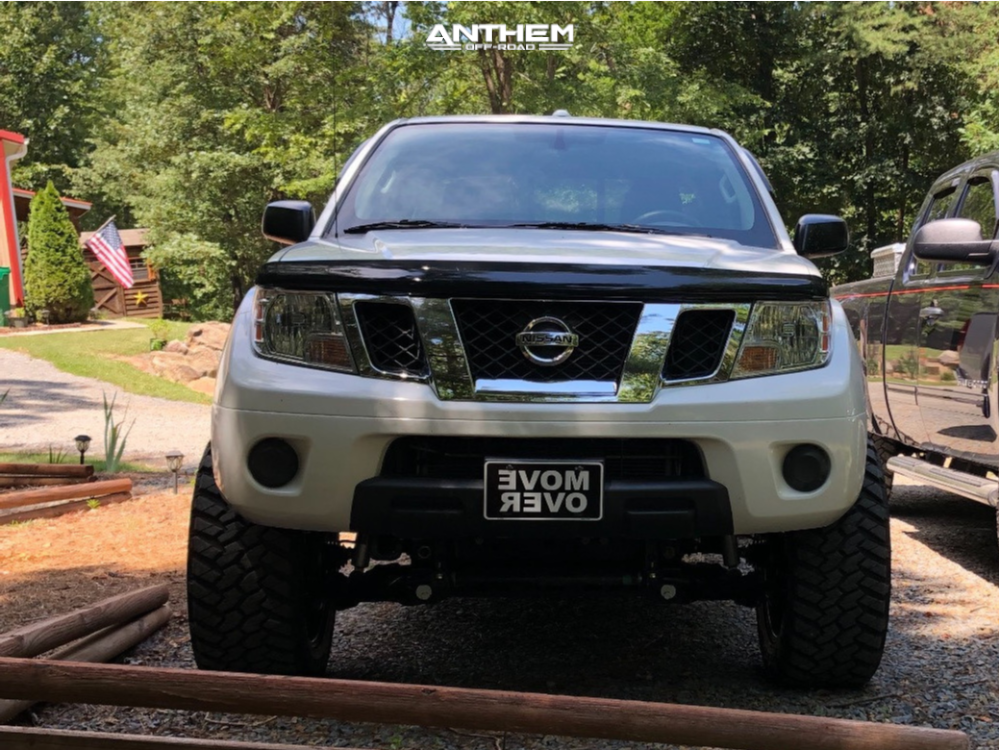 7 2014 Frontier Nissan Rough Country Suspension Lift 6in Anthem Gunner Machined Accents