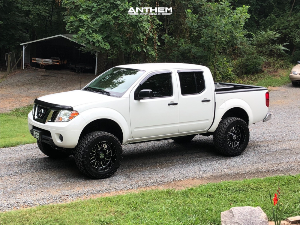 8 2014 Frontier Nissan Rough Country Suspension Lift 6in Anthem Gunner Machined Accents