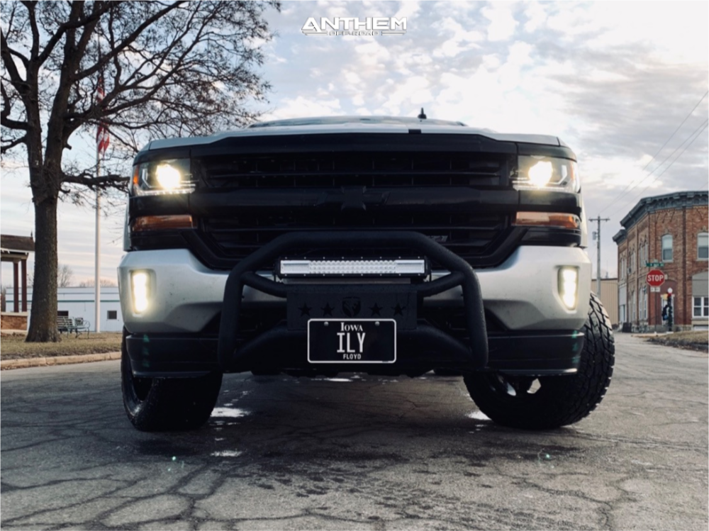 5 2016 Silverado 1500 Chevrolet Bilstein Leveling Kit Anthem A712 Defender Black
