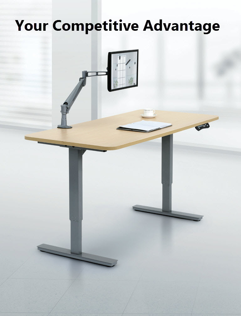 AnthroDesk Electric Dual Motor Standing Desk
