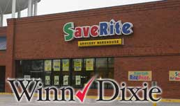 Winn-Dixie: Discontinuing The SaveRite Banner
