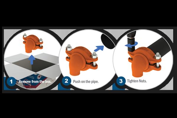 Gruvlok® SLT Fittings with SlideLOK® Couplings
