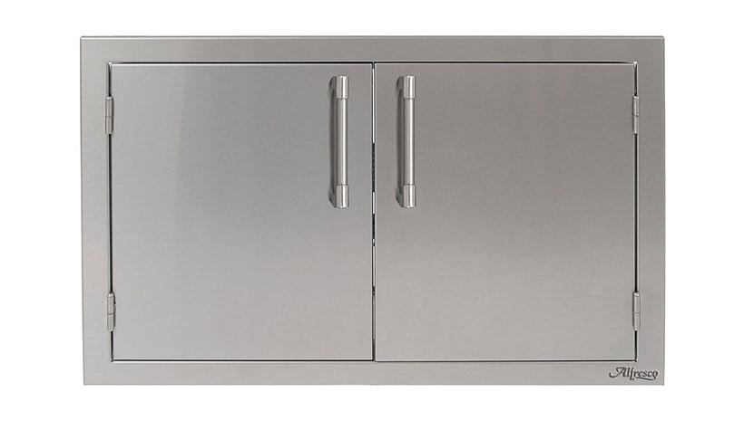 Alfresco 30 Inch Double Access Door Affordable Outdoor Kitchens