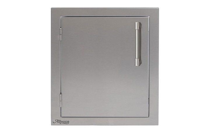 Alfresco-17-inch-by-21-inch-Left-Hinge-Stainless-Steel-Vertical-Single-Access-Door-AXE-17L