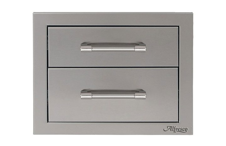 Alfresco-17-inch-Stainless-Steel-Two-Tier-Storage-Drawers-AXE-2DR