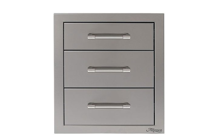 Alfresco-17-inch-Stainless-Steel-Three-Tier-Storage-Drawers-AXE-3DR