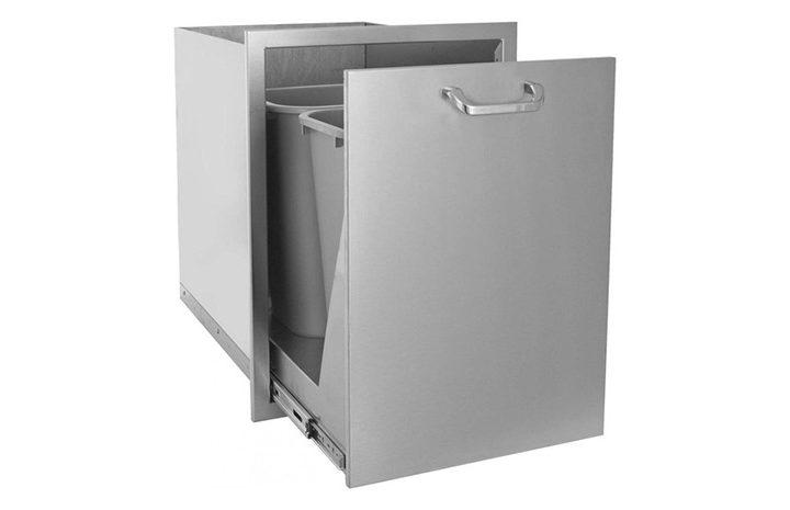 PCM 17u2033x 24u2033 Stainless Steel Trash Recycle Bin