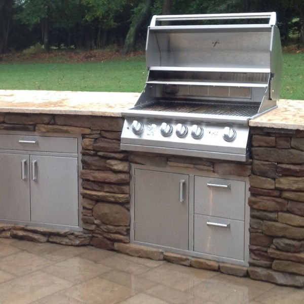 Lion 32 built in gas grill affordable outdoor kitchens for Gasgrill fur outdoor kuche