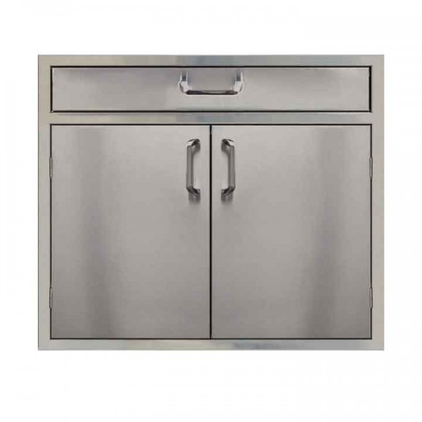 """PCM 30"""" Stainless Steel Double Door W/4"""" Drawer"""