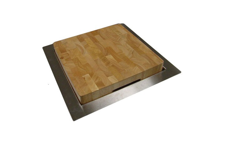 Make Prep Work Fun And Easy With This Trash Chute That Features A Removable  Stainless Steel Lid That Covers The Heavy Duty Wooded Cutting Board.