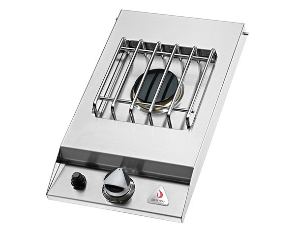 Delta heat 12 drop in single sideburner affordable for Drop in grills for outdoor kitchens