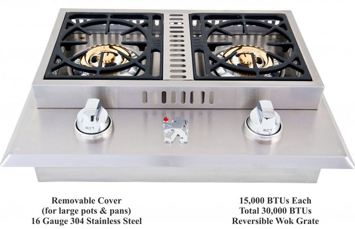 Lion Double SideBurner | Affordable Outdoor Kitchens