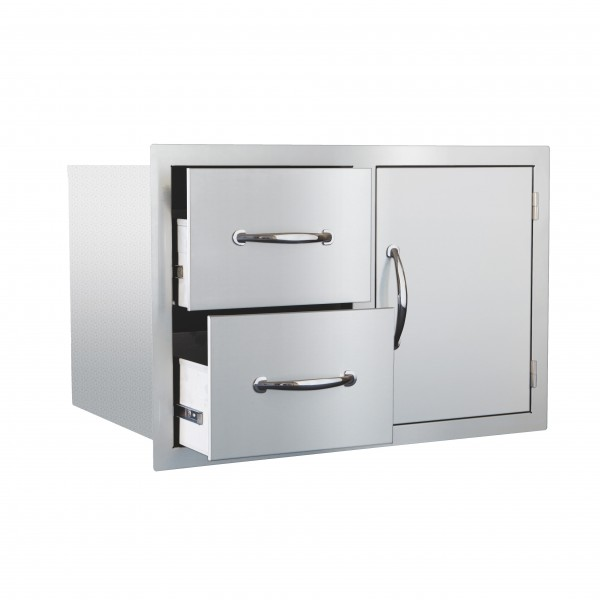 "Summerset 30"" Stainless Steel Door & Drawer Combo"
