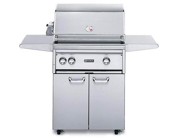 lynx 27 professional 2 burner freestanding cart gas grill
