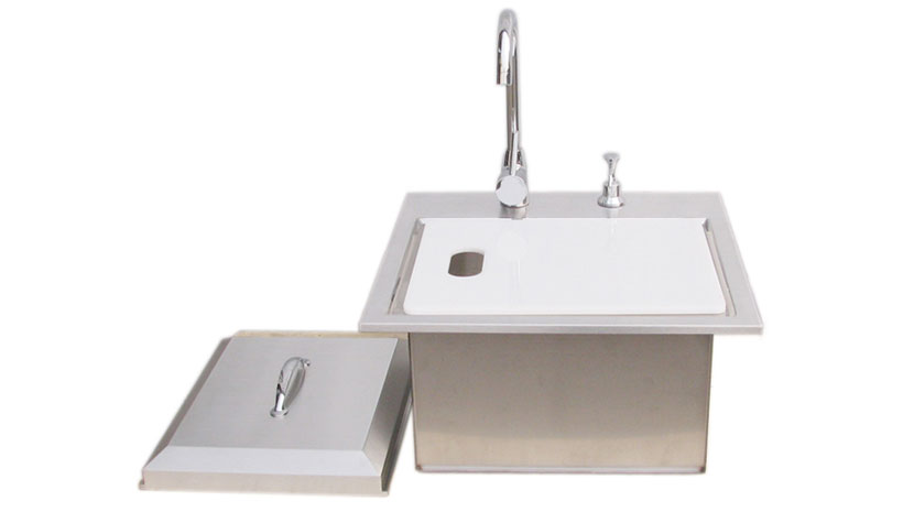 Premium 21 Quot Drop In Sink With Hot And Cold Water Faucet