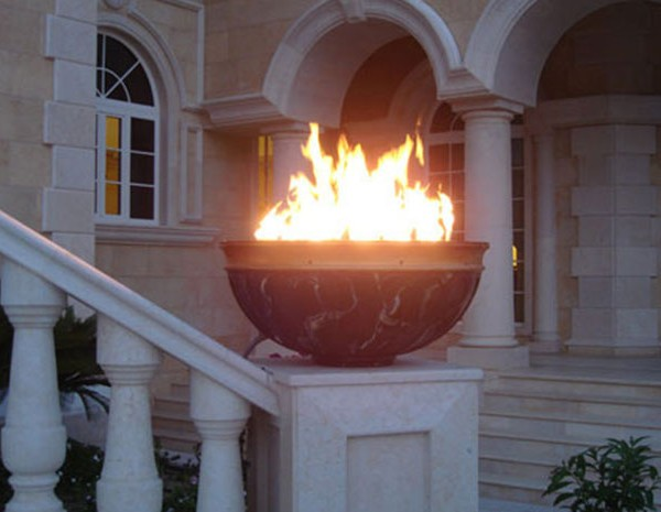 Hpc 14 Quot Penta Match Lit Round Fire Pit Burner Flat Pan